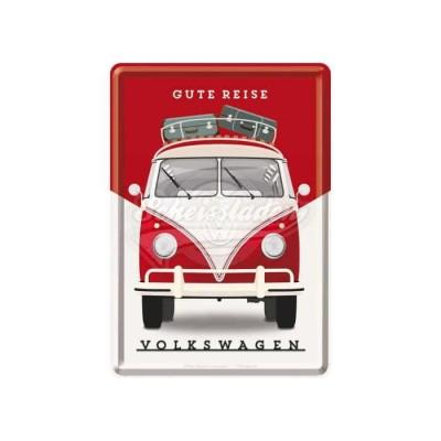 """Blechpostkarte """"VW - Gute Reisel"""" Nostalgic Art"""