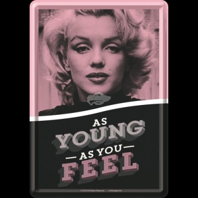 "Blechpostkarte ""Marilyn Monroe - As Young As You Feel"" Nostalgic Art"