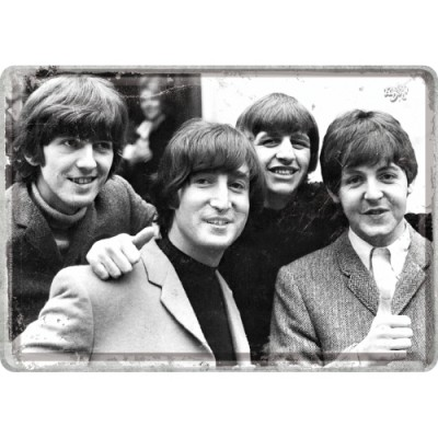 "Blechpostkarte ""The Beatles - Photo"" Nostalgic Art"