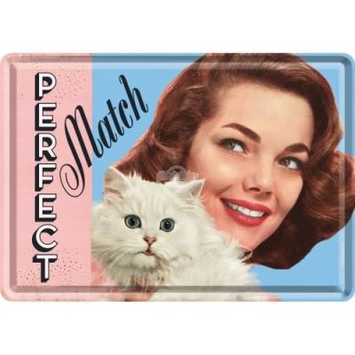 """Blechpostkarte """"Perfect Match"""" Nostalgic Art"""