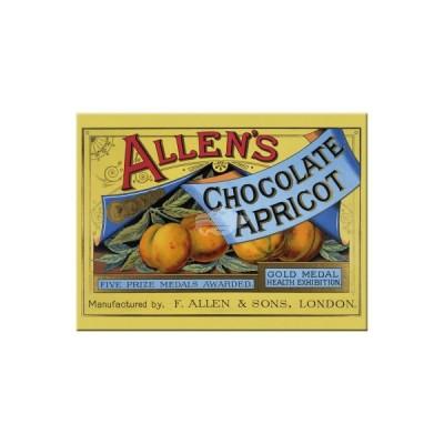 "Magnet ""Allens Apricot - Coffee & Chocolate"" Nostalgic Art-Auslaufartikel"
