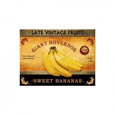 "Magnet ""Sweet Bananas - Home & Country"" Nostalgic Art-Auslaufartikel"