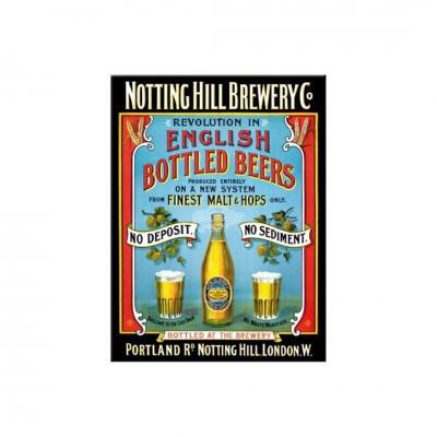 """Magnet """"Notting Hill - Bier und Spirituosen"""" Nostalgic Art-Auslaufartikel"""