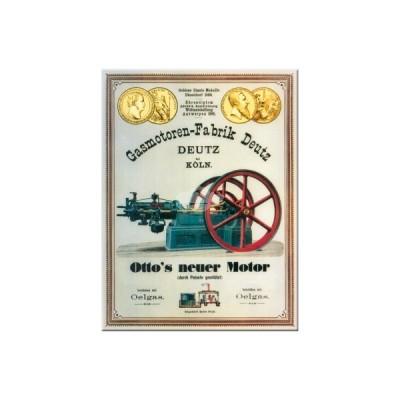 "Magnet ""Gasmotoren - Deutz"" Nostalgic Art-Auslaufartikel"