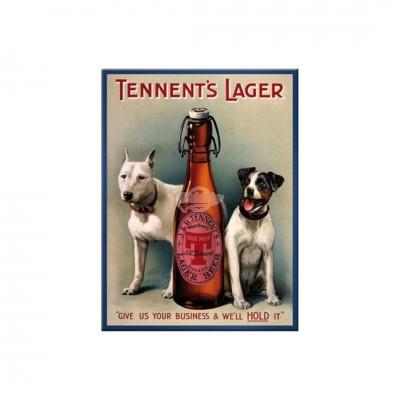 "Magnet ""Tennents Lager - Bier & Spirituosen"" Nostalgic Art-Auslaufartikel"