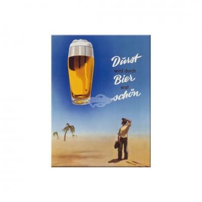 """Magnet """"Bier Durst - Bier & Spirituosen"""" Nostalgic Art-Auslaufartikel"""