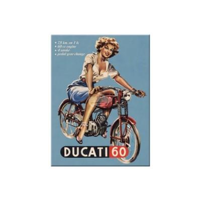 """Magnet """"Pin Up - Ducati"""" Nostalgic Art-Auslaufartikel"""