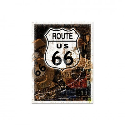 "Magnet ""Road 66 Rost - US Highways"" Nostalgic Art"