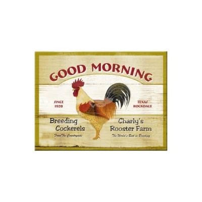 "Magnet ""Good Morning - Animal Club"" Nostalgic Art-Auslaufartikel"