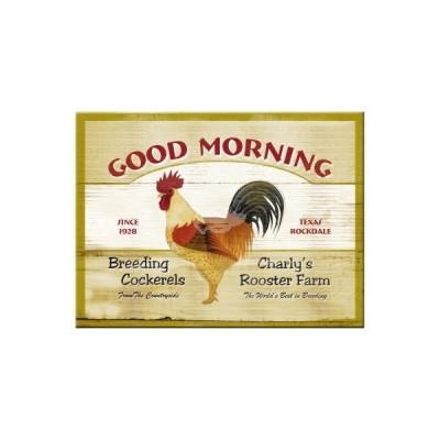 """Magnet """"Good Morning - Animal Club"""" Nostalgic Art-Auslaufartikel"""