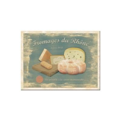 "Magnet ""Fromages du Rhone"" Nostalgic Art-Auslaufartikel"