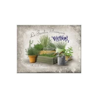 """Magnet """"Jardin Francais - Home & Country"""" Nostalgic Art"""