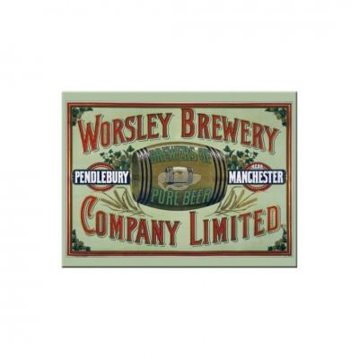 """Magnet """"Worsley Brewery - Bier & Spirituosen"""" Nostalgic Art-Auslaufartikel"""