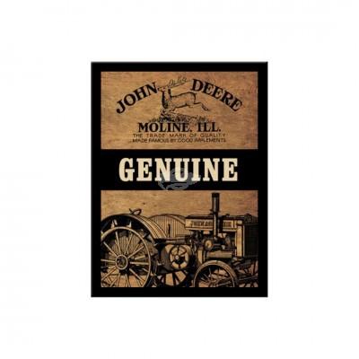 "Magnet ""Genuine - John Deere"" Nostalgic Art-Auslaufartikel"