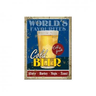 """Magnet """"Cold Beer - Bier & Spirituosen"""" Nostalgic Art-Auslaufartikel"""