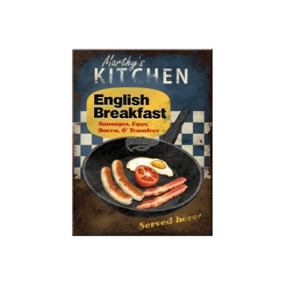 "Magnet ""English Breakfast - United Kingdom"" Nostalgic Art-Auslaufartikel"