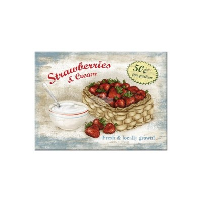 "Magnet ""Strawberries - Home & Country"" Nostalgic Art-Auslaufartikel"