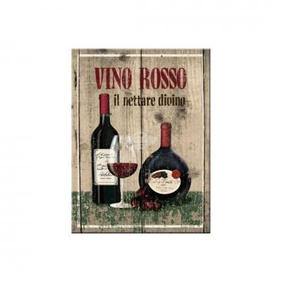 "Magnet ""Vino Rosso - Bier & Spirituosen"" Nostalgic Art-Auslaufartikel"