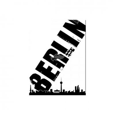 "Magnet ""Berlin Skyline schwarz - Berlin CityStyle"" Nostalgic Art"