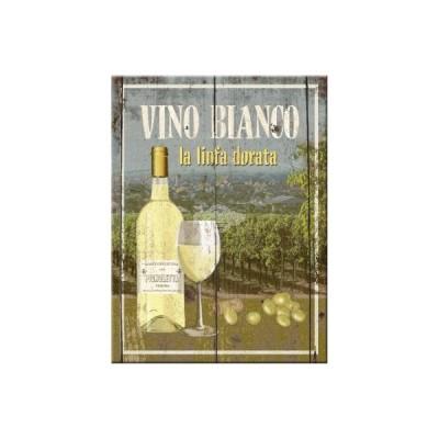 "Magnet ""Vino Bianco - Bier & Spirituosen"" Nostalgic Art-Auslaufartikel"