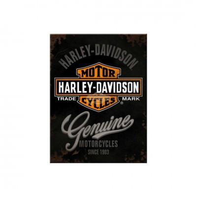 "Magnet ""Harley Davidson - Genuine Logo"" Nostalgic Art"