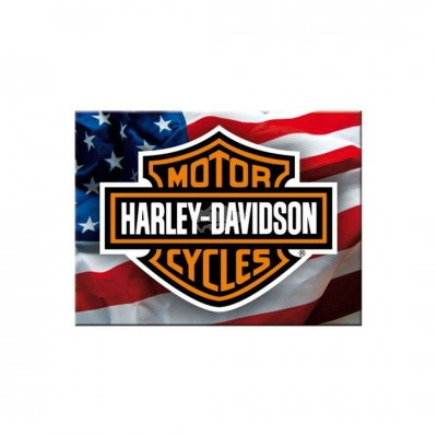 "Magnet ""Harley Davidson - USA Logo"" Nostalgic Art"