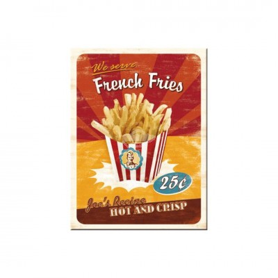 "Magnet ""French Fries - USA"" Nostalgic Art"