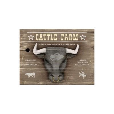 "Magnet ""Cattle Farm - Animal Club"" Nostalgic Art-Auslaufartikel"