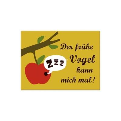 """Magnet """"Der frühe Vogel - Smile"""" Nostalgic Art"""