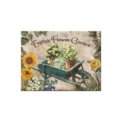 "Magnet ""English Garden Blue - Home & Country"" Nostalgic Art-Auslaufartikel"