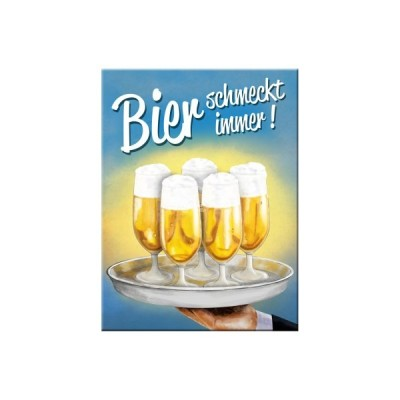 "Magnet ""Bier schmeckt - Bier & Spirituosen"" Nostalgic Art"