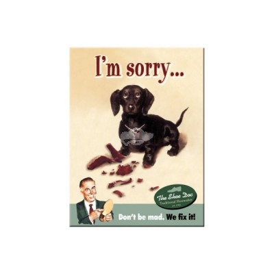 "Magnet ""Im Sorry - Say it 50s"" Nostalgic Art-Auslaufartikel"