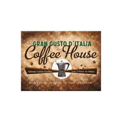 "Magnet ""Coffee House - Coffee & Chocolate"" Nostalgic Art-Auslaufartikel"