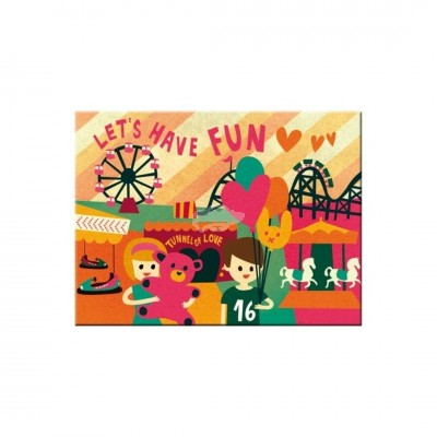 "Magnet ""Lets Have Fun - Happy Together"" Nostalgic Art -Auslaufartikel"