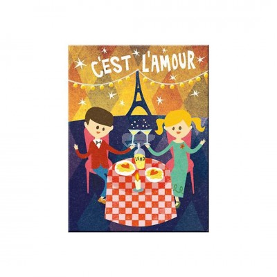 "Magnet ""Cest LAmour - Happy Together"" Nostalgic Art -Auslaufartikel"