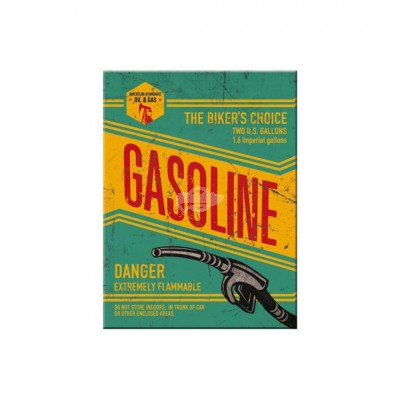 "Magnet ""Gasoline - Best Garage"" Nostalgic Art"