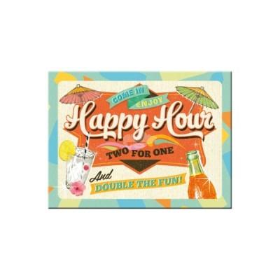 """Magnet """"Happy Hour - Bier und Spirituosen"""" Nostalgic Art"""