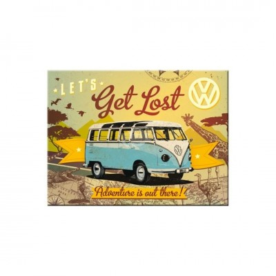 "Magnet ""VW Bulli Lets get - Volkswagen"" Nostalgic Art"