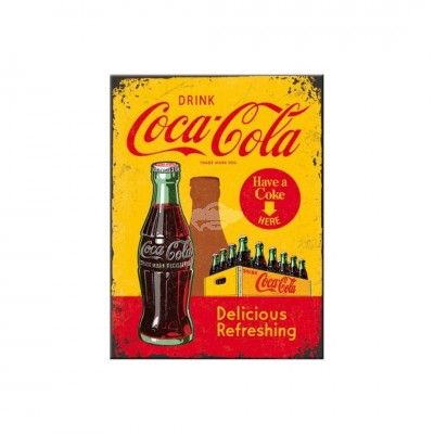 "Magnet ""Coca-Cola - In Bottles Yellow"" Nostalgic Art"