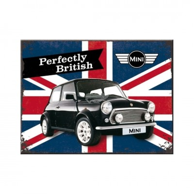 "Magnet ""Mini - Perfectly British"" Nostalgic Art"