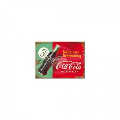 "Magnet ""Coca-Cola - Delicious Refreshing Green"" Nostalgic Art"