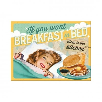"Magnet ""Breakfast in Bed"" Nostalgic Art"