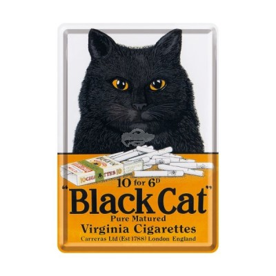 "Blechpostkarte ""Black Cat"" Nostalgic Art"