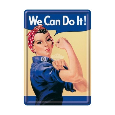 "Blechpostkarte ""We Can Do It"" Nostalgic Art"