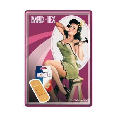 """Blechpostkarte """"Hammer- Pin up"""" Nostalgic Art-Auslaufartikel"""