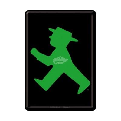 """Blechpostkarte """"Ampelmännchen grün"""" Nostalgic Art"""