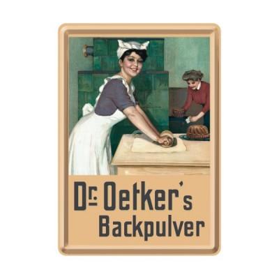 """Blechpostkarte """"Dr. Oetkers Backpulver"""" Nostalgic Art"""
