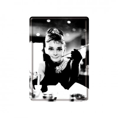 "Blechpostkarte ""Audrey Hepburn - Holly Golightly"" Nostalgic Art"