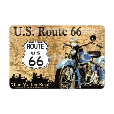 "Blechschild ""Route 66 Map"" Nostalgic Art"