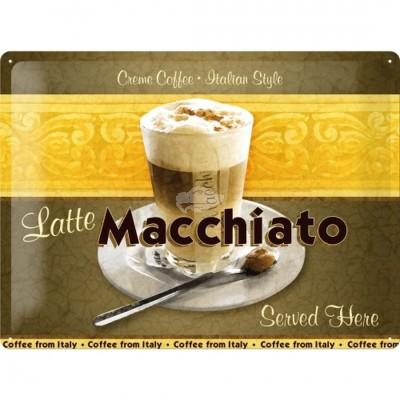 "Blechschild ""Latte Macchiato"" Nostalgic Art-Auslaufartikel"